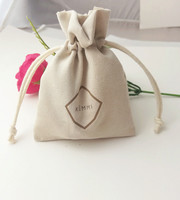 Custom velvet suede bags jewelry pouch with drawstring