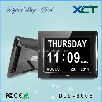 Calendario Digitale Per Anziani.8 Dual Time Data Dual Anziani Giorno Di Calendario Digitale Orologio Per Gli Anziani Per Gli Anziani Per La Demenza Per Perdita Di Memoria Ddc 8003