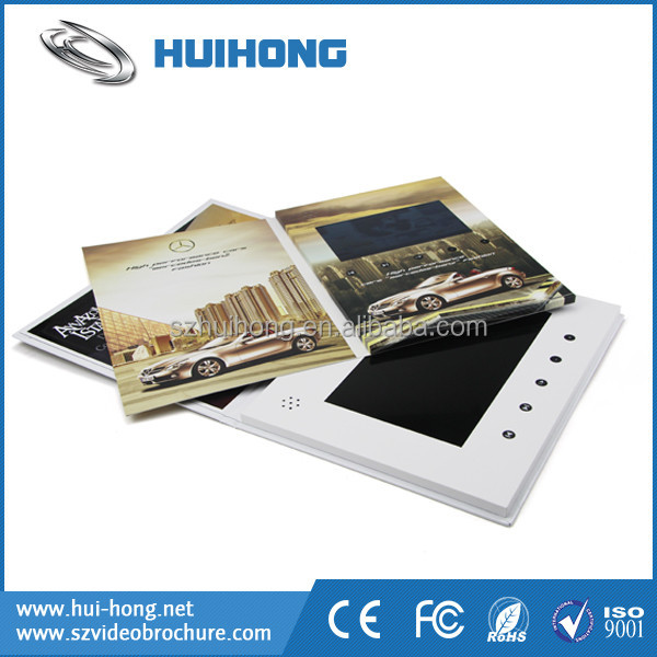 A5 postcard combine with ultra lcd screen 4.3/5/7/10.1 inch lcd screen