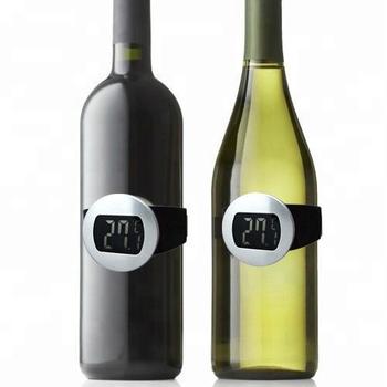 Original Unique Design Domestic Bar Tools Lcd Electron Red Wine Bottle Digital Thermometer Temperature Meter