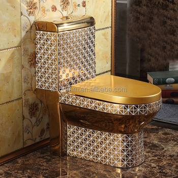 Gold Plated Water Closet Colored Toilet Bowl Kd 03gp2