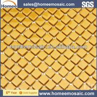Kitchen Backsplash Yellow Glass Mosaic Tile