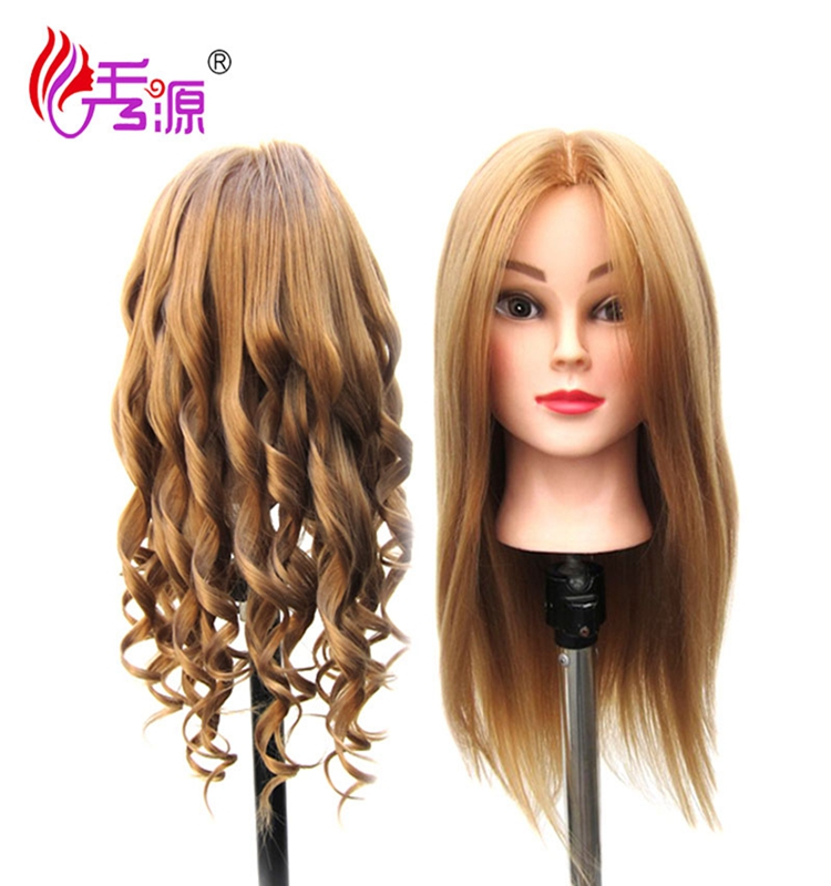 Mixed hair doll head for hairdressing training dummy mannequin head