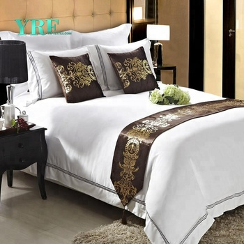 YRF Wholesale Cotton White Flat Bed Sheets Set Twin Full Queen King