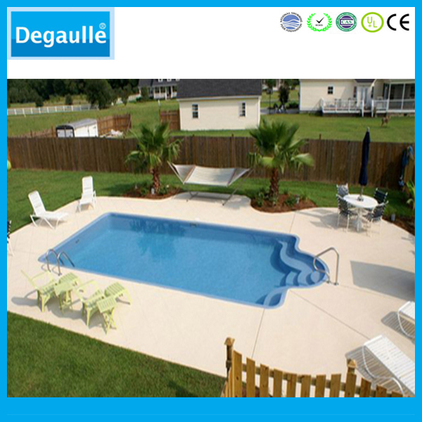 Degaulle fashion and easy to install fiberglass swimming pool