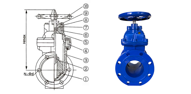 large diameter sluice gate valve price 2inch 3inch 4inch 5inch 6inch