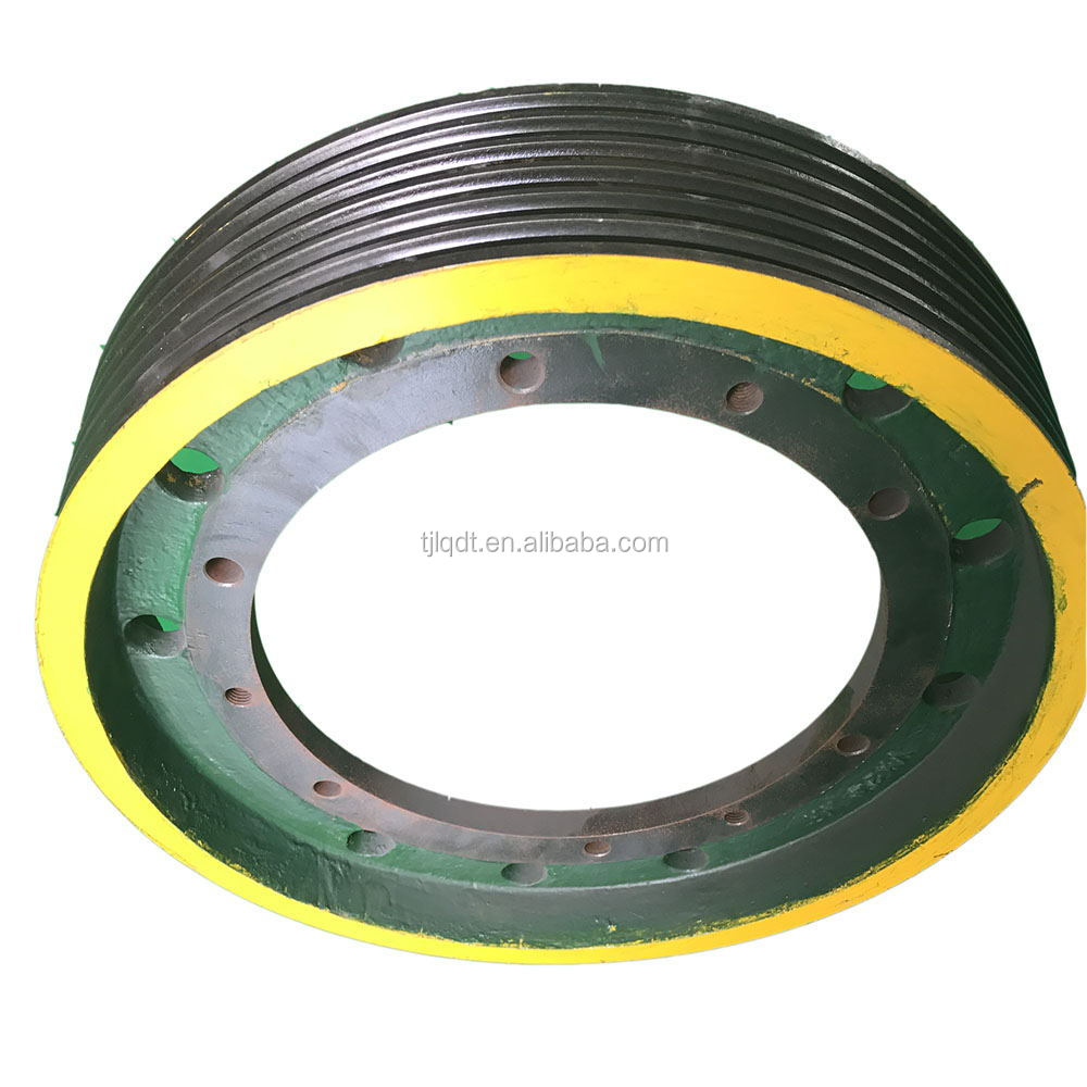 Wear-resistant safety elevator pulleys,elevator spare parts650*6*13
