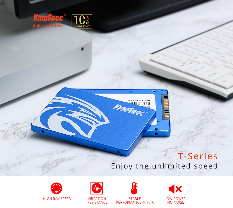 "T-256 SATAIII Solid State Drive 2.5"" MLC 240GB SSD for All-in-one PC, Gaming Device, Set-top box, Ticket machine"