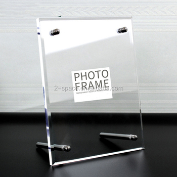 Clear Acrylic Frame 8x10 Large Acrylic Picture Frame Transparent ...