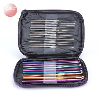 Popular weaving craft  knitting needle mixed color crochet hook set