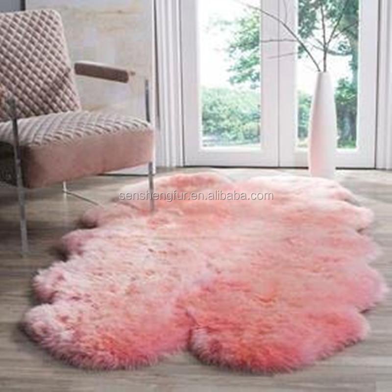 Pink Sheepskin Rugs Colored Rug