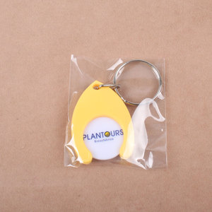 High quality plastic shopping cart token in chip holder