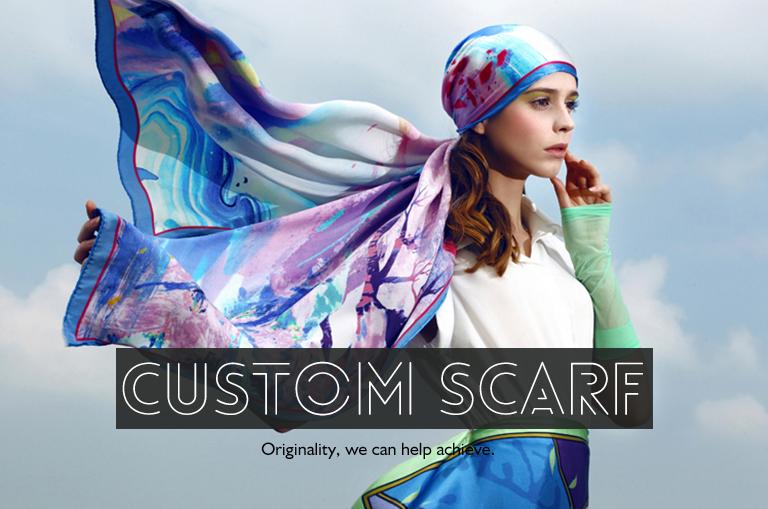 Digital printing custom twill silk scarf 90x90 flower print scarf