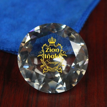 Custom Clear Crystal 60mm Diamond Paperweight With Logo Engraved For Souvenirs Gifts