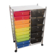 15 Drawer Rolling Storage Cart Tools Office Home School Organizer Hand Carts