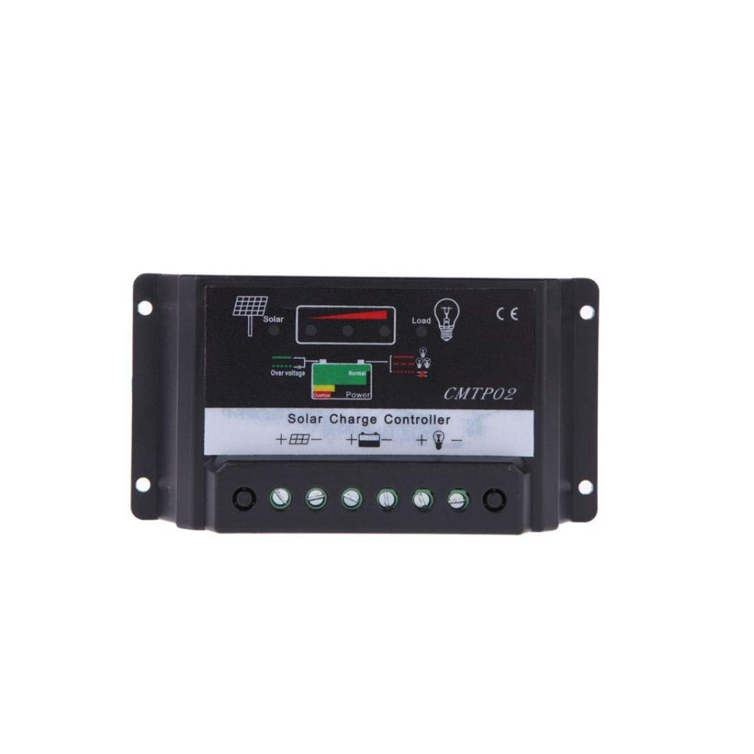 LiPing 5/10/15/20/30A 12V/24V PWM Solar Panel Battery Regulator Charge Controller Auto Switch (5A)