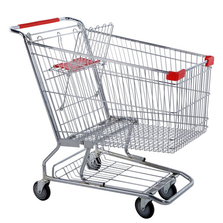 Super quality new shopping mall carts safety rolling shopping trolley super market