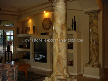 Indoor pillars columns globe stones, decorated products columns molds,  marble columns prices