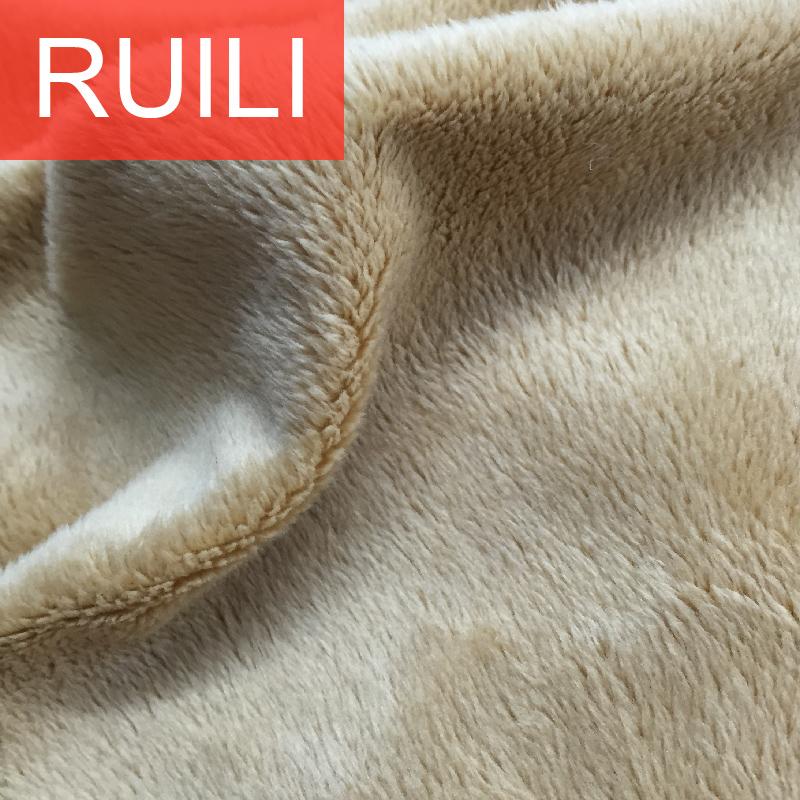 brushed super soft velboa short pile plush fabric