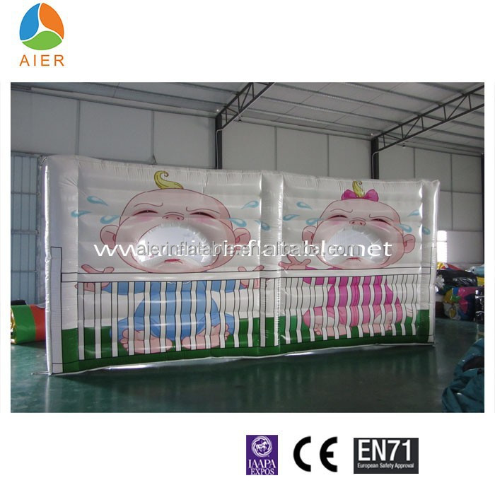 Babies throwing games,inflatable throwing ball games,sport games inflatable.