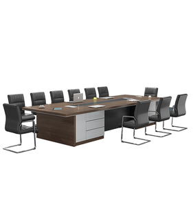 Foshan factory High quality office Furniture for 10 person meeting table MDF wholesale conference table