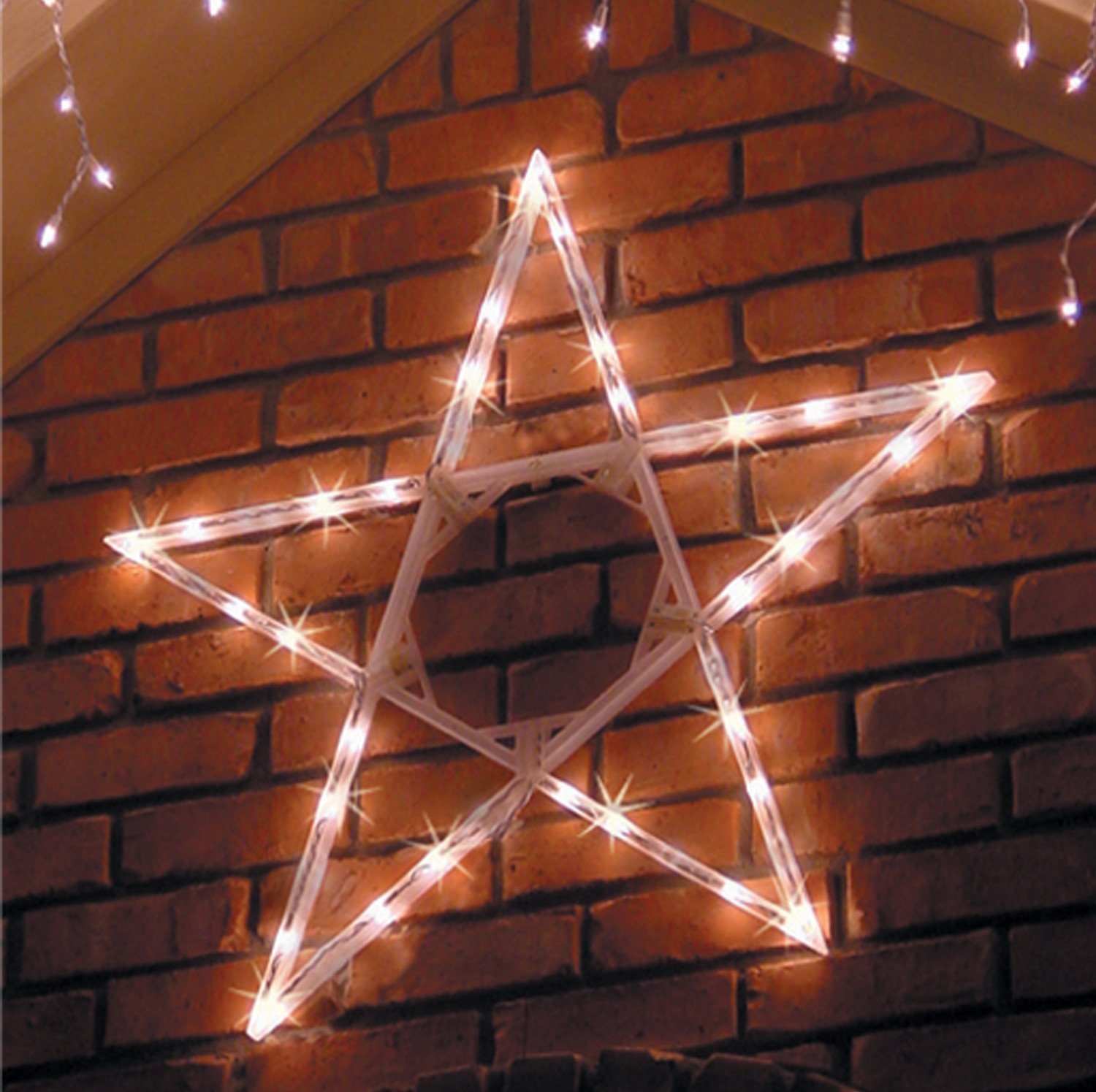 Get Quotations Kringle Traditions 4 Led Folding Star Decoration 70 Cool White Lights Outdoor Lighted