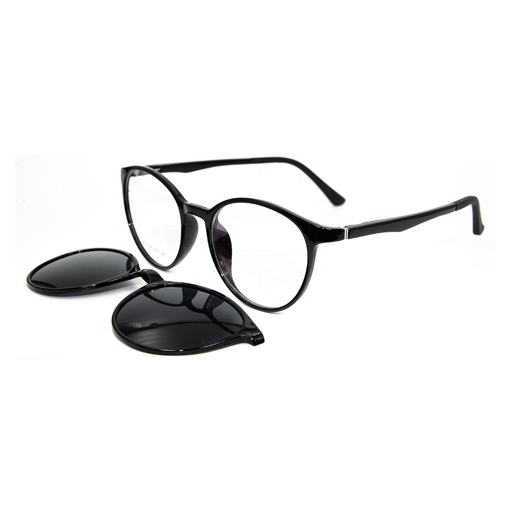 Fashion Style Magnetic TR90 Optical Frames Clip on Sun glasses фото
