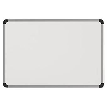 Magnetic Dry Erase Board, Melamine, 36 x 24, White, Aluminum/Plastic Frame