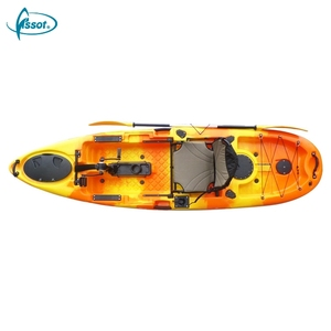 Best price HDPE 1 person pedal fishing kayak for bays lakes