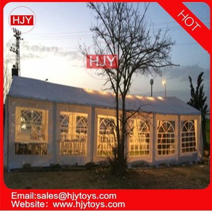 Guangzhou HJY party tent 8X20matter 26X65ft heavy PVC steel consitration PVC tent for event and party