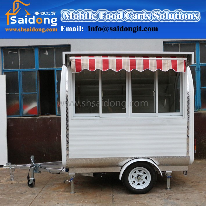 2016 New demensions multifunctional folding food cart mall food kiosk for sale