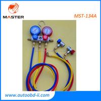2015 MST-134A On Promotion AC Pressure Gauge 2 Ways AC Pressure Diagnostic Tool Automobile AC Refrigeration Manifold Gauge