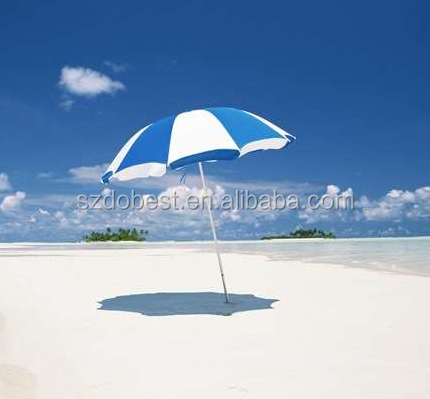 Wind Resistant Outdoor Advertising Straight Beach Umbrella