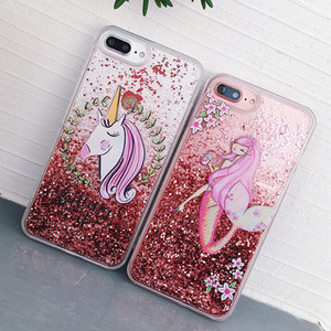 Mermaid Quicksand Bling Liquid Cell Phone Case for iphone XS XR MAX Elegant Girls Women Mobile Phone Cover for iPhoneX 6 7 8PLUS