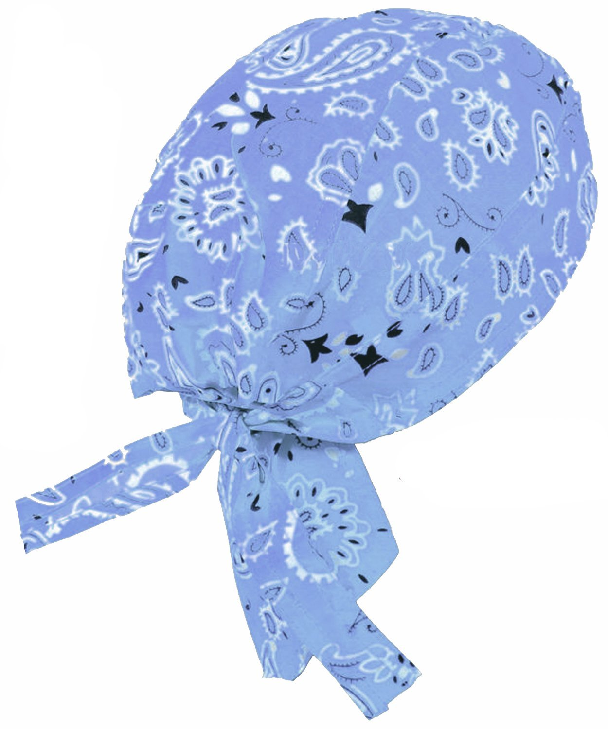 b3dd1eba2e4 Light Blue Paisley Do-Rag Bandana Skull Cap Doo Du Rag Cap Headwrap Hat