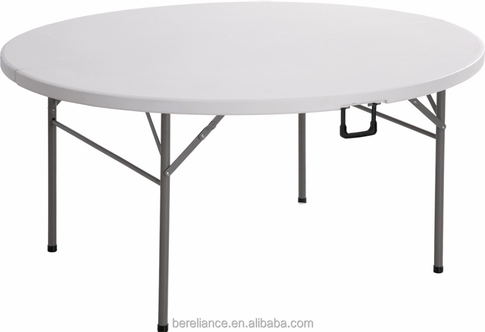 Hot Sale Cheap HDPE Outdoor Round Wedding Folding Tables