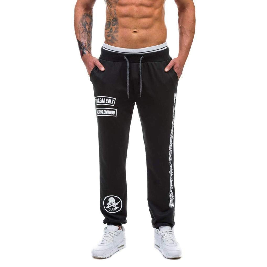 Todaies✈Clearance!Mens Casual Jogger Dance Pants Sportwear Baggy Harem Pants Slacks Trousers Sweatpants 3 Colors (M, Black)