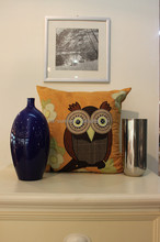 embroidered cushion cover owl from china supplier
