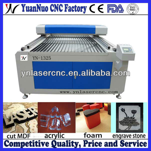 YN1325 12mm MDF laser cutting machine/lasr cutting for MDF