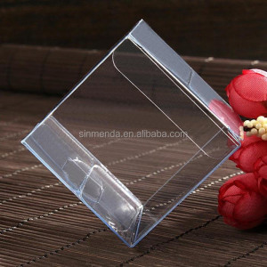 Wholesale Plastic folding small clear pvc storage box 4x4x4 PET box