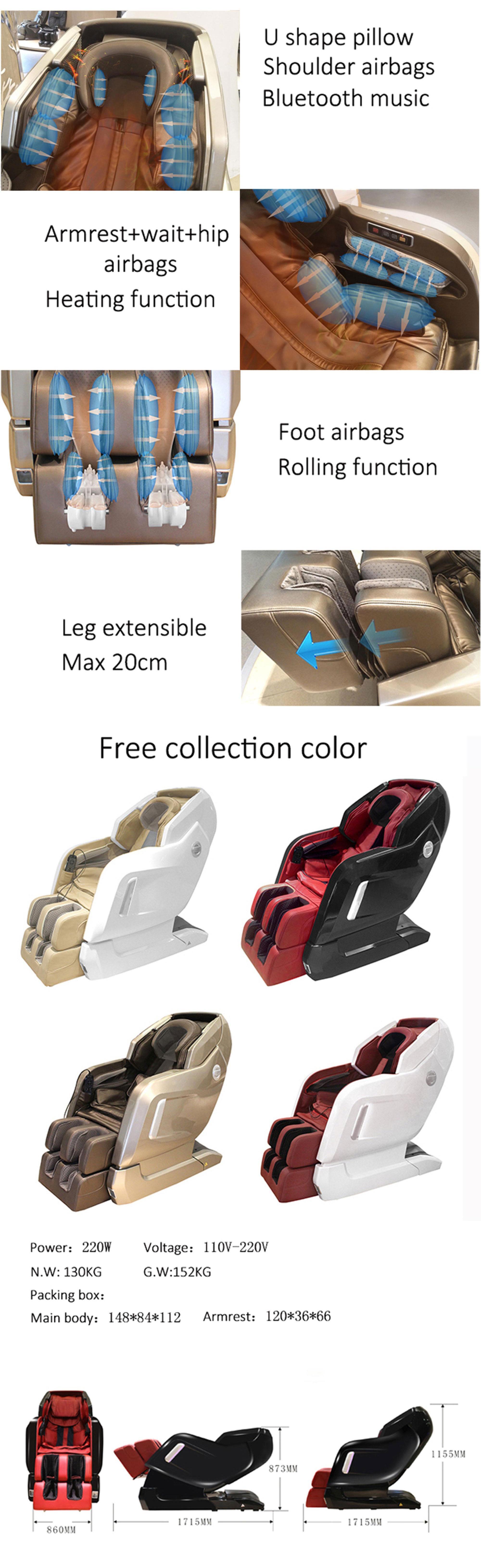 レジャーデザインボディケア3dシネマタイマッサージチェア空気ポンプ