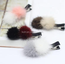 Mink- 23 30mm watermelon wheat color genuine mink fur ball