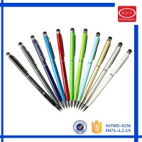 Quality iphone Screen Touch Metal Stylus Twist Ball Pens
