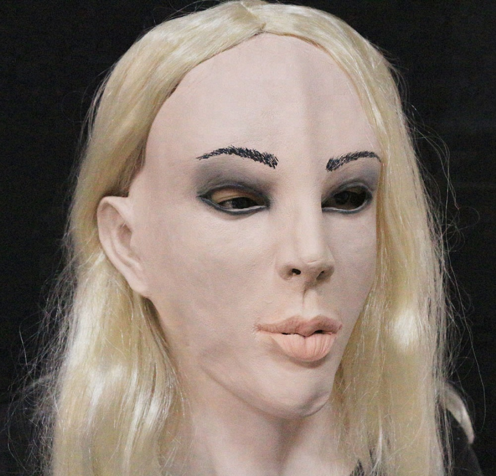Realistic Female Face Mask Eco-friendly Halloween Party Latex Mask