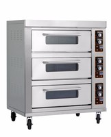 380v 3 decks electric oven commercial restaurant pizza oven industrial cake baking oven