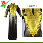 men african clothes black dress styles fashion african stretch Moroccan kaftan embroidery design