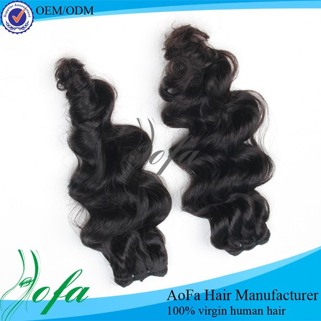 Natural texture soft and smooth hair weave in bulk