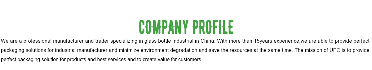 Xiamen UPC Imp  & Exp  Co , Ltd  - Glass Bottle