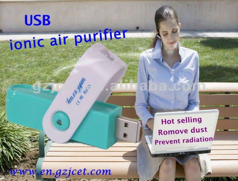 Guangzhou promotional gift with usb ionic air purifier (USB air purifier JO-722)