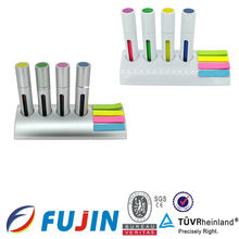 office stationery pen holder with sticker gift set
